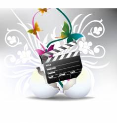 Movie clapperboard vector