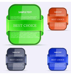 Best choices stickers vector