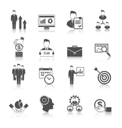 Management icon set vector