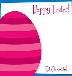 Funky easter egg card in format vector