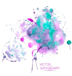 Watercolor abstract background vector