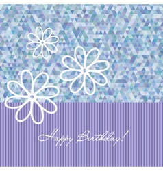 Congratulation birthday card with flowers vector