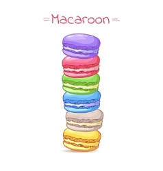 Beautiful of a french dessert macaroons vector