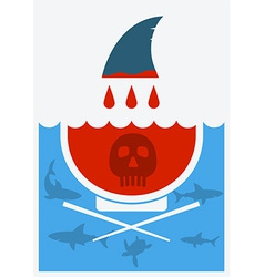 Stop shark finning soup vector