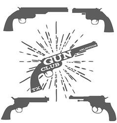 Gun club design elements vector