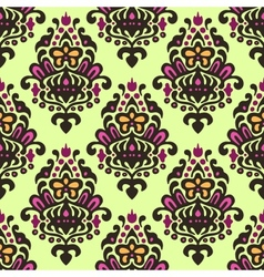 Damask flourish seamless pattern vector