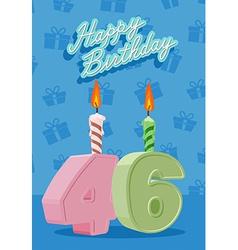 46 years celebration 46nd happy birthday vector