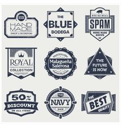 Monochrome vintage labels vector
