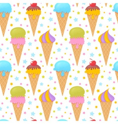 Colorful melting ice-cream seamless pattern vector