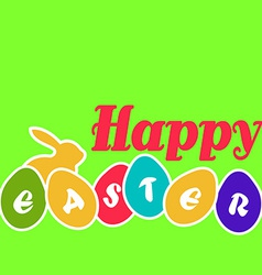 Happy easter egg card vector