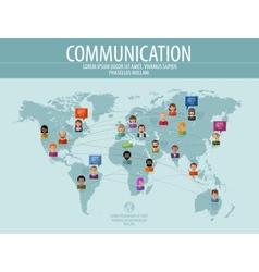 Communication logo design template vector