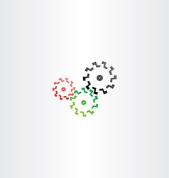 Color cogs mechanic gears icon vector