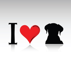 Sign i love dog vector