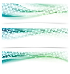 Abstract speed satin swoosh dotted header vector