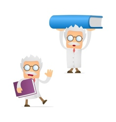 Scientist with book vector