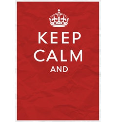 Keep calm editorial vector