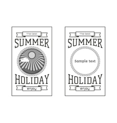 Summer holiday party festival logos badges vector
