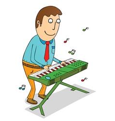 Playing organ vector