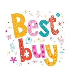 Best buy decorative lettering type design vector