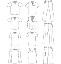 Man clothes summer collection vector