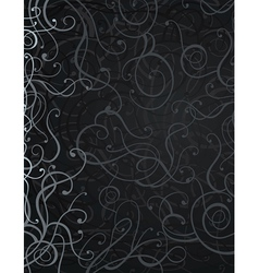 Black abstract ornament background vector
