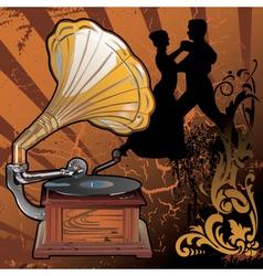 Gramophone vector