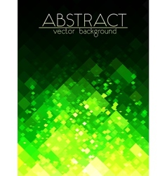 Bright green grid abstract vertical background vector
