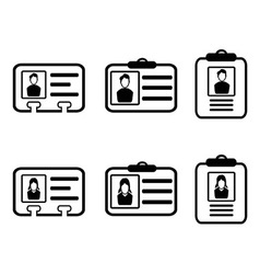 Id card icons vector