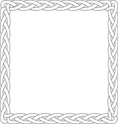Black line box braid vector