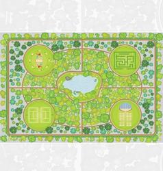 Park plan vector