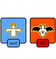 Good and evil symbols vector