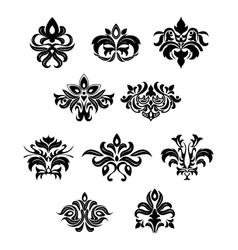 Floral embellishments and design elements vector