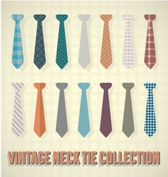 Vintage neck tie collection vector