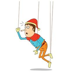 Hanging puppet vector