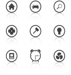 set grey icons house vector