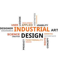 Word cloud industrial design vector