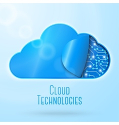 Cloud computing technology concept vector