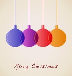 Elegant christmas decoration background vector
