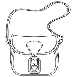Contour ladies fashion bag vector