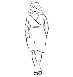 Fat woman vector