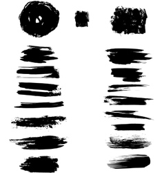 Ink blots stroke vector