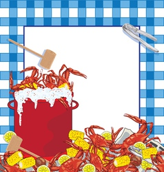 Crab boil party invitation vector