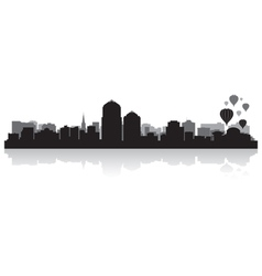 Albuquerque usa city skyline silhouette vector