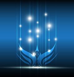 Bird symbolic design vector