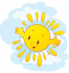 The cheerful sun vector