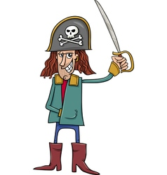 Funny pirate cartoon vector