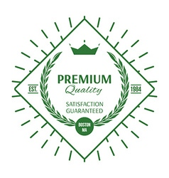 Premium quality labels and badges vector