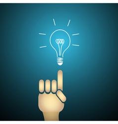 Light buld idea vector