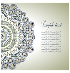 Vintage background traditional ottoman motifs vector