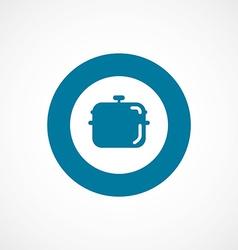 Pan bold blue border circle icon vector